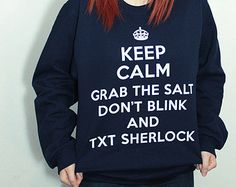 SuperWhoLock Fandom Sweatshirt - Many sizes available - Supernatural Doctor Who Sherlock multifandom tumblr unisex gift Hoodie