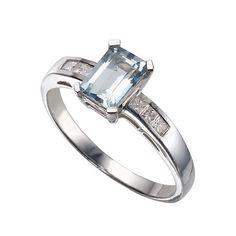 Ernest Jones Aquamarine Diamond Ting
