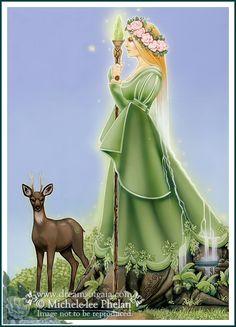 Elements Earth:  Tarot Queen of #Earth, by Ravynne Michele Phelan.