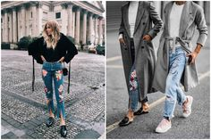 How to wear embroidery jeans