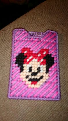 Minnie mouse gift card holder plastic canvas