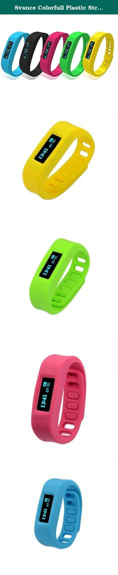 Svance Colorfull Plastic Strap Anti-loss Pedometer Sleep Health Monitor Bracelet Bluetooth Sync Sports Wristband-Black. Product parameter 1.Screen size: 0.84'' 2.Screen type: OLED 3.Weight: 41 g 4.Product size: 66*66*32mm 5.Battery: Lithium battery 6.Bluetooth standard: BT4.0 Product function Anti- lost alarm when the distance between your phone and the smart bracelet is beyond the Bluetooth limited receiver distance,the smart bracelet will vibration to alarm. Smart alarm clock You can…