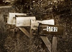 Rustic Country Mailboxes Mailbox Photo by ShutterLovePrintShop
