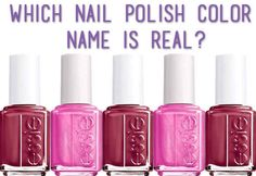 Which Nail Polish Color Name Is Real?