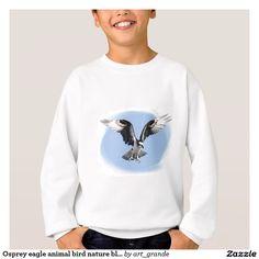 Osprey eagle animal bird nature blue sky sweatshirt