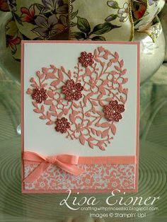 Stampin' Up!, Crafting with Princess Lisa, Lisa Eisner,  Bloomin' Love Stamp Set, Bloomin' Heart Thinlits
