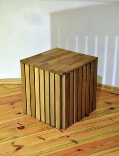 Stool, wooden, iron, box, Kraina ES