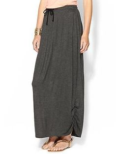 Jersey Knit, laid back grey skirt  -Olive & Oak Knit Maxi Skirt | Piperlime