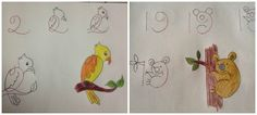 Kid-Friendly Drawings That Are Made With Numbers As A Base.
