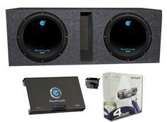 "2) PLANET AUDIO AC10D 10"" 3000W Subwoofers + Vented Box + 2 Channel Amp +Amp Kit. MAX Power Handling: 1500 Watts per sub (3000 Watts per pair). RMS Power Handling: 750 Watts per sub (1500 Watts per pair). Frequency Response: 23Hz - 3kHz. Efficiency (1 Watt/1 Meter): 96 dB. Voice Coil Diameter: 2""."