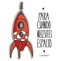 #space #espacio #cohete #illustration