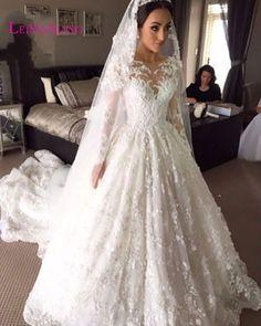2017 Elegant Modern Sexy Ball Gown Wedding Dresses Robe de Mariage Vestidos de Novias Bridal Gown Full Sweetheart Custom Made