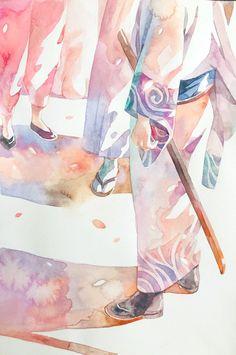 Otaku Anime, Anime Art, Gintama Wallpaper, Manhwa, Samurai, Okikagu, Anime Kunst, Art And Illustration, Anime Demon