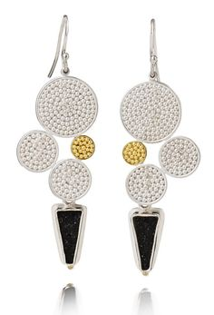 Dot Cluster Drusy Earrings jewelry by Patricia Tschetter; photo: Marilyn OHara