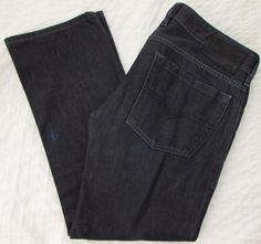Men Diesel Zatiny Jeans Boot Cut Leg Mid Rise Button Fly Dark Wash sz 33 X 29.5 #DIESEL #BootCut