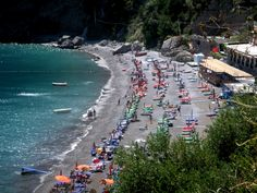 Fornillo Beach, Positano, Amalfi Coast Italy