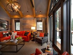 Family room from windows From HGTV Dream Home 2014, Truckee, CA (over $2m)