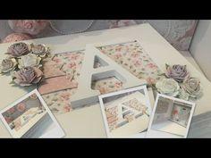Decoración caja de scrap para comunión - YouTube