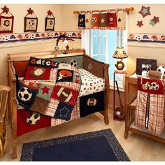 Nojo My Little Mvp 10 Piece Crib Bedding Set W Per Sports Soccer