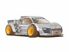 Cool Car Drawings, Street Racing Cars, Car Illustration, Illustrations, Futuristic Cars, Car Sketch, Automotive Art, Car Wallpapers, Amazing Cars