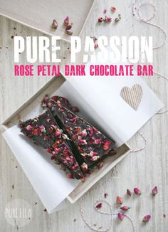 {OH MY!} Pure Passion: Rose Petal Dark Chocolate Bar from Pure Ella... #valentines #chocolate #recipe