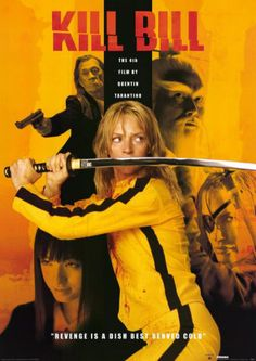 "Kill Bill. Kickass Tarantino film. Uma Thurman as ""The Bride."""
