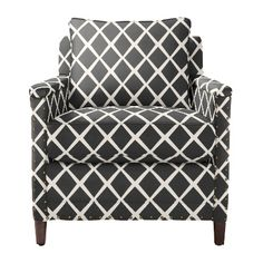 Living Room side chair Custom Upholstered Spruce Street Chair in Designer Fabrics | Serena & Lily