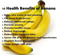 bananas do help quit smoking ♡ because they contain high levels of Vitamin C, as well as potassium and magnesium which assist the body to COPE and deal with the EFFECTS of not smoking Benefits Of Eating Bananas, Banana Health Benefits, Fruit Benefits, Health And Nutrition, Health Tips, Health And Wellness, Health Articles, Health Facts, Women's Health