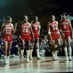 Mo Cheeks, Andrew Toney, Moses Malone, Charles Barkley and Julius Erving