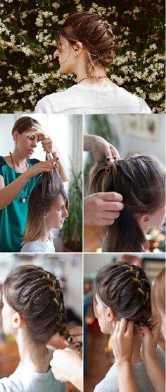 She's Beautiful Já fiz esse penteado algumas vezes, é simples e bonito!
