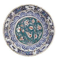 An Iznik polychrome pottery dish, Turkey, circa 1590