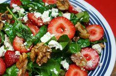 Strawberry Feta Spinach Salad