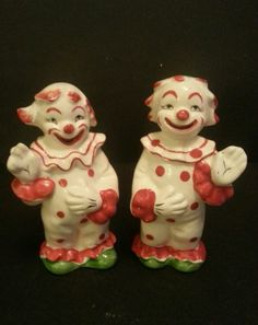 Vintage Happy Clown Salt Pepper Shakers made in Japan Exotic Animals, Exotic Pets, Clown Images, Shake Shake, Send In The Clowns, How To Make Toys, Salt And Pepper Set, Vintage Circus, Salt Pepper Shakers