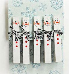❤ Hóemberes képeslap csipeszekből ❤Mindy -  kreatív ötletek és dekorációk minden napra