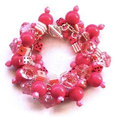 Mixed Pink Bead Bracelet £15.00