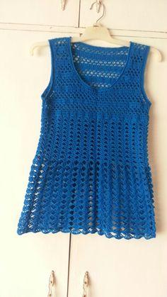 Blue shell tunic