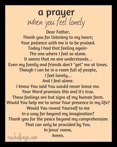 Prayer for loneliness