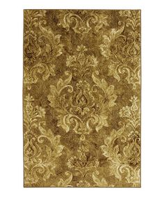 Love this Antique Gold Damask Rug by Mohawk Home on #zulily! #zulilyfinds