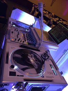 DJ AL Custom All white set up .. Technics 1200