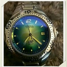 Mens Fossil watch! Perfect condition! I bought this off of Posh for my boyfriend and then we broke up so now I'm trying to get my money back. Fossil Accessories Watches