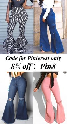 Big Sale!Shop Now!Catch the trend with these fashion pants and jeans! Explore more fashion ideas at lovelywholesale.com. #pants #jeans#womensfashion #trending