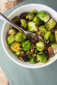 Balsamic Brussels Sprouts with Pecans & Dried Cherries — Foraged Dish