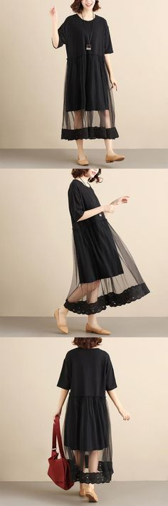 Casual Dresses For Women, Clothes For Women, Sewing, Long Sleeve, Summer, Sleeves, How To Wear, Collection, Black