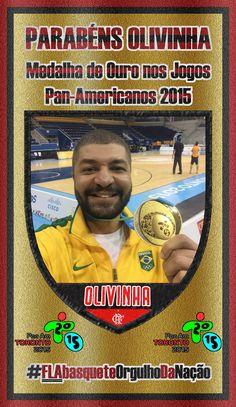 OLIVINHA, Medalha de Ouro nos Jogos Pan-Americanos. #FLAbasqueteOrgulhoDaNação