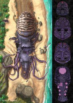 Fantasy Town, Fantasy Map, Cartographers Guild, Ship Map, Mind Flayer, Rpg Map, Dnd 5e Homebrew, Arte Cyberpunk, Dungeon Maps