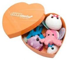 GIANTmicrobes Heart Warming Gift Box of Romantic Microbes