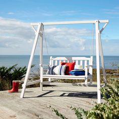 Dondolo bianco da giardino ... - Port blanc