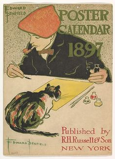 Edward Penfield (American 1866-1925). R.H. Russell & Son Calendar, 1897, 1896. The Metropolitan Museum of Art, New York. Leonard A. Lauder Collection of American Posters, Gift of Leonard A. Lauder, 1984 (1984.1202.123(1)).