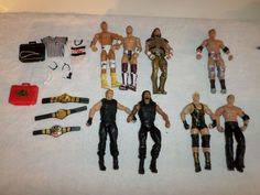 Lot of 8 WWE Figures And Accessories RED Money Bank, 3 Title Belts, Macho Man... in Toys & Hobbies, Action Figures, Sports | eBay