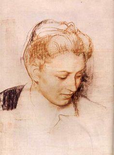 Ritratto di Benedetta di Pietro Annigoni (1910-1988, Italy) #TuscanyAgriturismoGiratola